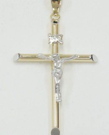 Crucifix 14K Two-Tone Gold 1.6g-0