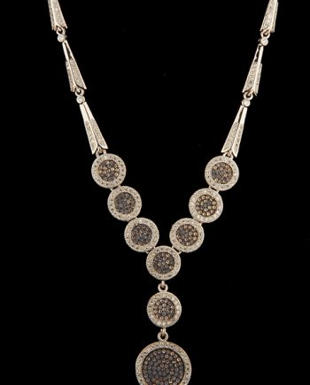 Sterling Silver Drop Necklace with Cubic Zirconium-0