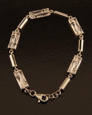 Sterling Silver Cubic Zirconium Bracelet-0