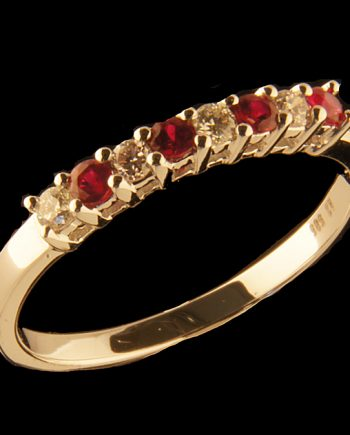 Ruby 0.18 ctw and Diamond 0.15 ctw 14K White Gold-0