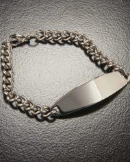 Men's Identification Bracelet Large Stainless Steel by Speidel-0