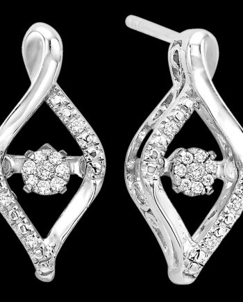 Rhythm of Love Marquis Earrings 0.07 ctw in Sterling Silver-0