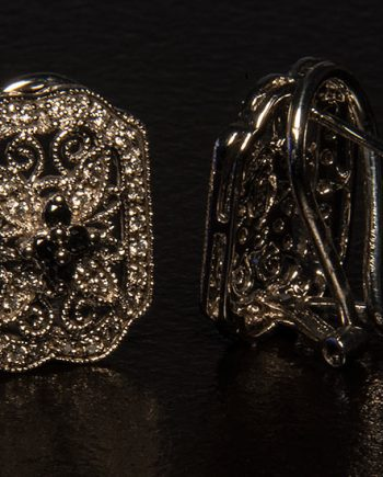 Antique Style Diamond Earrings 0.50ctw in 14K White Gold-0