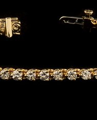 6.75 Inch Diamond (4.0ctw) Tennis Bracelet in 14K Yellow Gold-0
