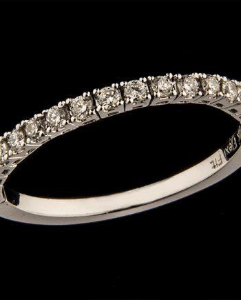 Diamond Engagement Wedding Band Contours FlexiFit 0.33ctw 14K White Gold-0