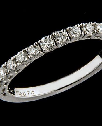 Diamond Wedding Band Contours FlexiFit 0.50ctw 14K White Gold-0