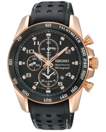 Seiko Men's Kinetic Alarm Chronograph-0