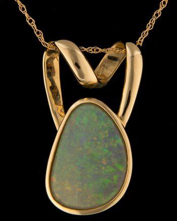 Opal Slide Pendant in 14K Yellow Gold-0