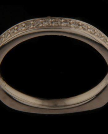 Diamond Engagement Wedding Band 0.18 tdw 14K White Gold-0