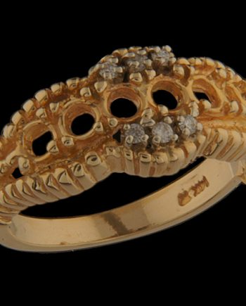 Six Stone Mother's Ring with 0.06 ctw Diamonds in 14K Yellow Gold-0