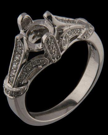 Diamond Engagement Semi-Mount 0.37 tdw 14K White Gold-0