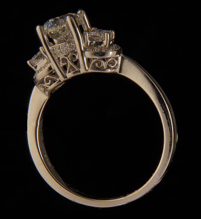 Diamond Engagement Ring Natalie K IHI 046ctw Half Moon Shape
