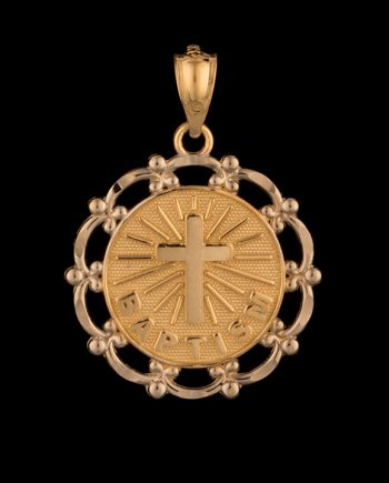 Baptism Pendant Disc 14K Yellow Gold-0