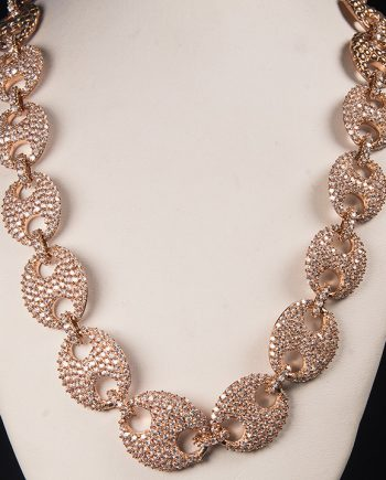 Cubic Zirconium Pave Fashion Necklace-0