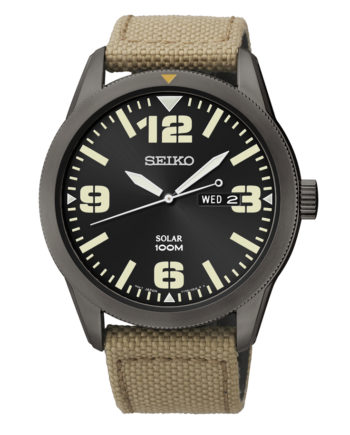 Seiko Men's Solar Watch with Canvas Strap-0