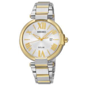 Seiko Women's Watch Two Tone Stainless Steel Bracelet with Roman Numerals-0