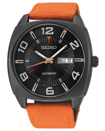 Seiko Men's Automatic with Orange Band-0