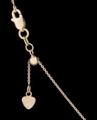 22 Inch Adjustable Cable Chain 14K White Gold-0