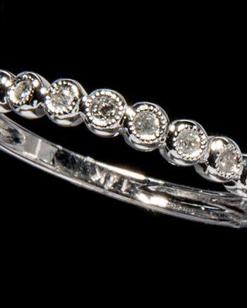 Diamond 1/8ctw Diamond Wedding Band in 14K White Gold-0