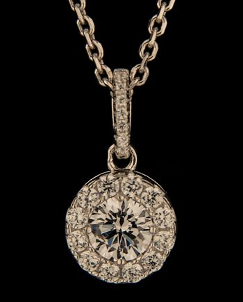Cubic Zirconium Cluster Pendant in Sterling Silver-0