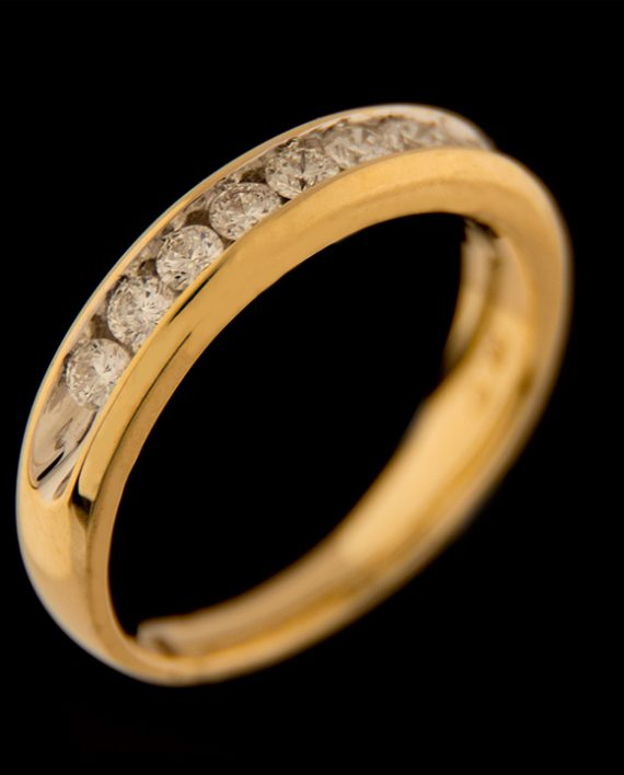 Men's Diamond 0.75ctw Wedding Band in 14K Yellow Gold-0