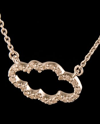 Diamond 0.25ctw Cloud Necklace in Sterling Silver-0