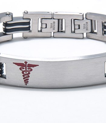 Men's Stainless Steel Medic Alert Bracelet-0