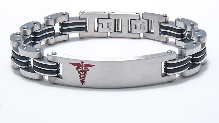 Men S Stainless Steel Medic Alert Bracelet 0