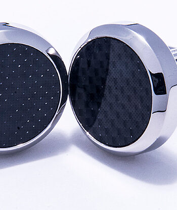 Stainless Steel Round Cufflinks-0