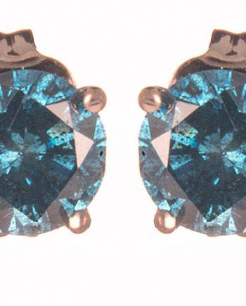 Blue Diamond Studs 1.0 tdw in 14K White Gold-0