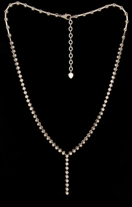 Bezel Set Diamond 1.83ctw Necklace in 14K White Gold-0