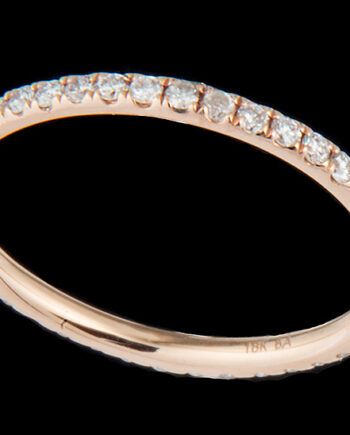 Diamond 0.46 ctw Eternity Band in 18K Rose Gold -0