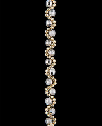 Faceted Beaded Brilliana Bracelet 7 Inches Plus 1 Inch Extension in 14K Two Tone Gold-0