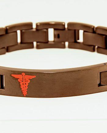 Black Stainless Steel Medic Alert Bracelet-0