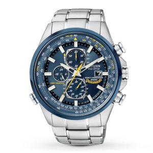 Citizen Eco-Drive Men's Blue Angels World Chronograph-0