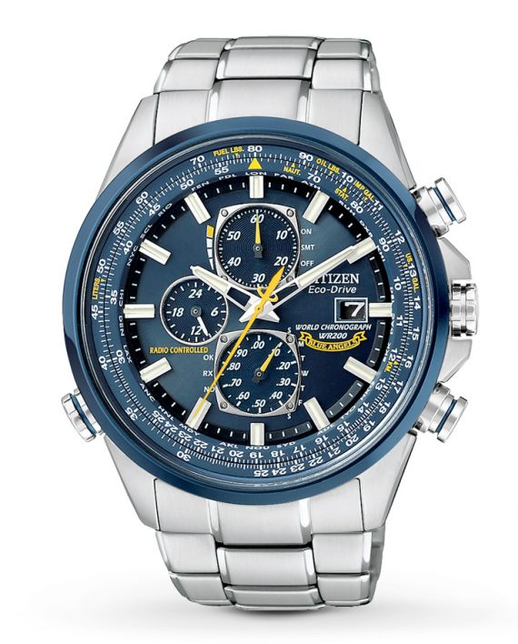 Citizen Eco-Drive Men's Blue Angels World Chronograph-0