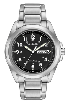 Citizen Eco-Drive Sport Men's Watch Stainless Steel with Black Face-0