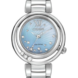 Citizen Eco-Drive Women's Watch with Stainless Steel Bracelet and Diamonds-0