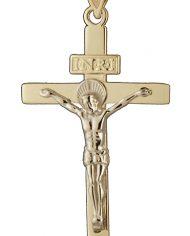 INRI Crucifix Charm in 14K Two Tone Gold-0