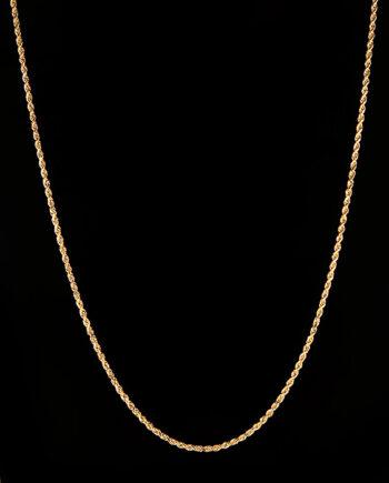 "Diamond Cut Rope Chain 24"" 10.85g 14K Yellow Gold-0"