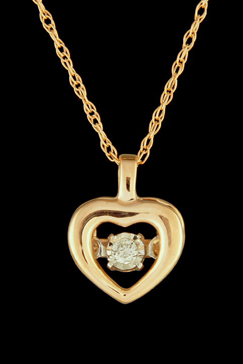 Rhythm of love diamond 002ctw heart pendant in rose gold rhythm of love diamond 002ctw heart pendant in rose gold aloadofball Image collections