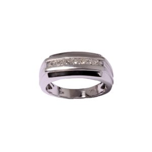 Men's Diamond (0.50ctw) Channel Band in 14K White Gold