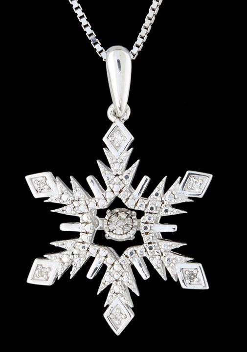 Rhythm of love diamond 005ctw snowflake pendant in sterling rhythm of love diamond 005ctw snowflake pendant in sterling silver brownes jewelers aloadofball Image collections