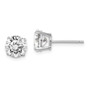 7mm Cubic Zirconium Studs in Sterling Silver