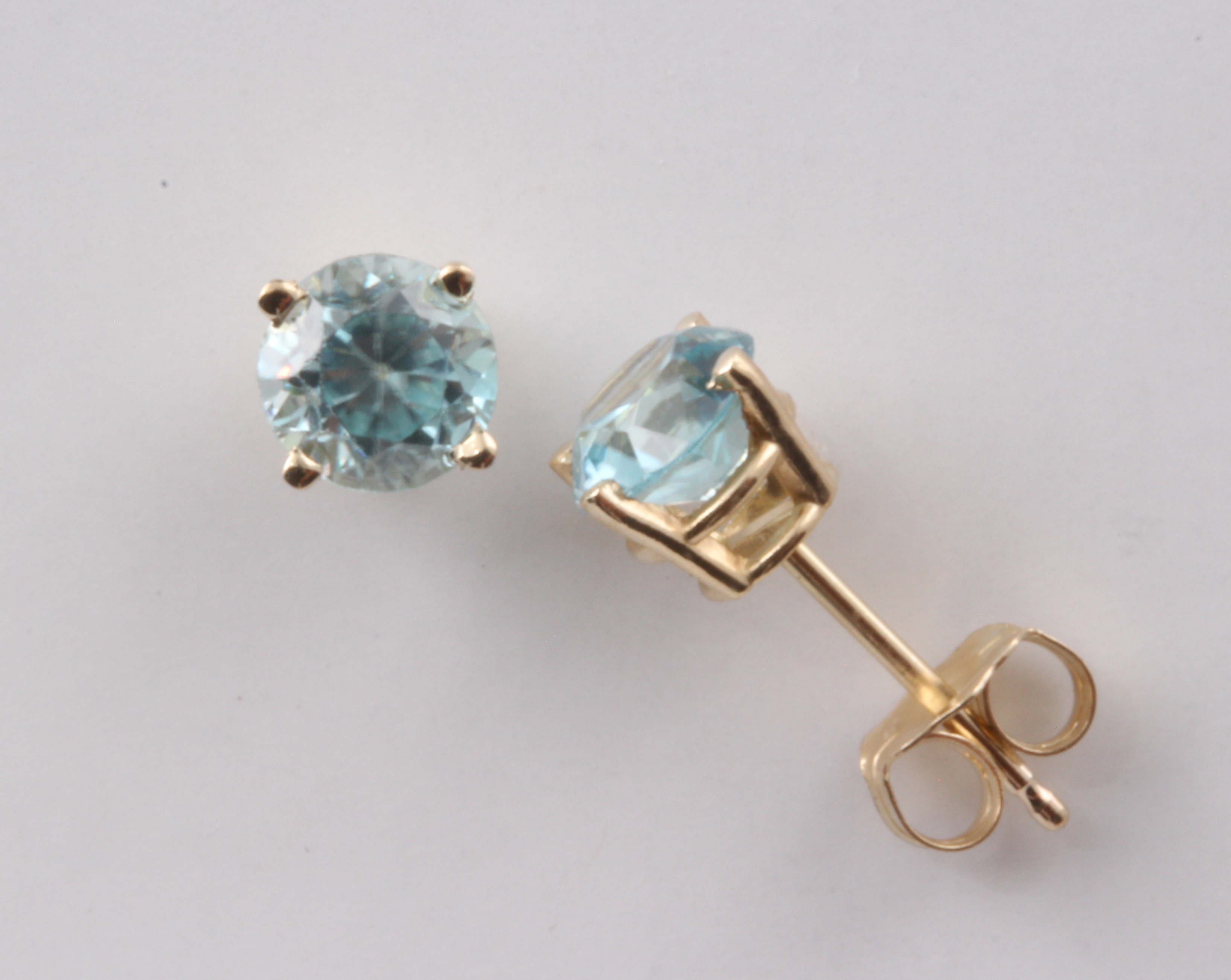 b0683360a ... Blue Zircon Stud Earrings in 14K Yellow Gold. $299.00. Quantity