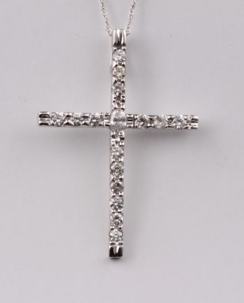 Handmade diamond cross