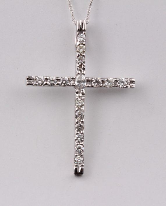 Handmade diamond cross