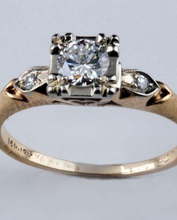 Estate Rings. Antique Emgagement Ring