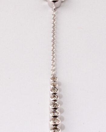 Diamond Straight Drop Bezel Bar .17Ct. Sterling Silver