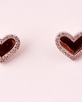 Pink Gold Hearts